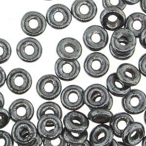 NEW! Czech O Bead - Jet Hematite