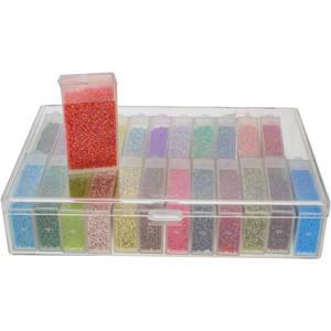 Storage Box with 24 flip top cases