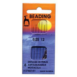 Pony Beading Needles, 6 pack: Size 12