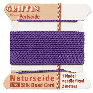 Griffin Silk Cord - Amethyst - Size 0 (0.3mm)