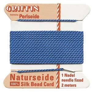 Griffin Silk Cord - Blue - Size 0 (0.3mm)
