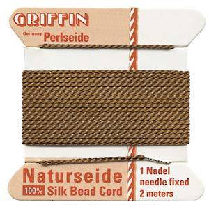 Griffin Silk Cord - Brown - Size 0 (0.3mm)