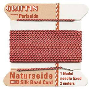 Griffin Silk Cord - Coral - Size 0 (0.3mm)
