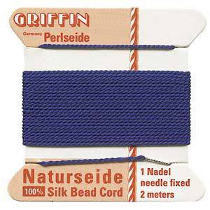 Griffin Silk Cord - Blue, dark - Size 0 (0.3mm)