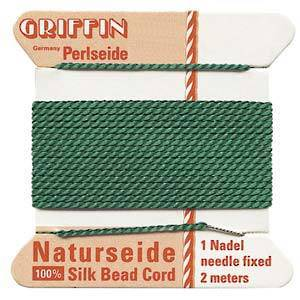 Griffin Silk Cord - Green - Size 0 (0.3mm)