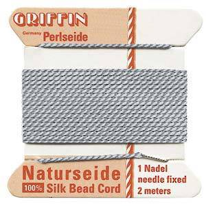 Griffin Silk Cord - Grey - Size 0 (0.3mm)