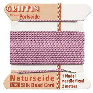 Griffin Silk Cord - Pink, dark - Size 0 (0.3mm)