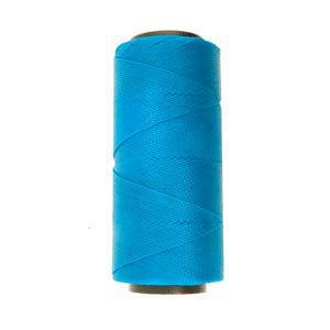 NEW! Knot-It Brazilian Waxed Polyester Cord: Aqua - per meter