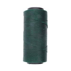 Knot-It Brazilian Waxed Polyester Cord: Dark Green - per meter