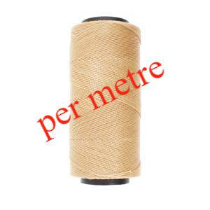 Knot-It Brazilian Waxed Polyester Cord: Natural - per meter