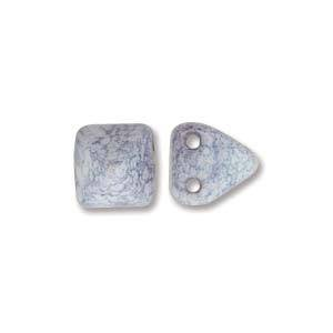 Pyramid Stud:  6mm - White Terracotta Blue