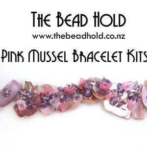 Pink Mussel Bracelet Kitset, pinks/purples, med/large pieces