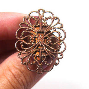 Filigree Ring Base - Copper