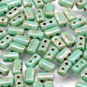 Rulla Bead: Turquoise Green Picasso