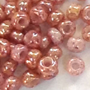 Toho size 11 round: 1201 - Pinky Beige, speckled