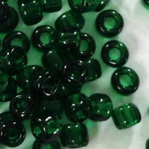 Matsuno size 11 round: 147A - Deep Green, transparent