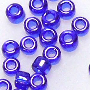 Miyuki size 11 round: 176 - Blue Opal, transluscent