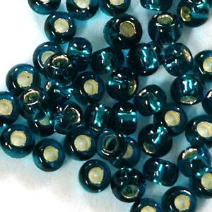 Toho size 11 round: 17B - Dark Teal, silver lined