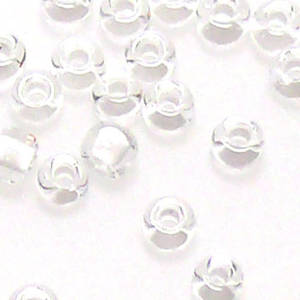 Matsuno size 11 round: 201 -  Clear, white colour lined