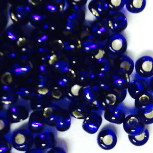 Matsuno size 11 round: 20A - Cobalt, silver lined