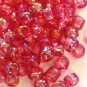 Matsuno size 11 round: 256E - Pink Shimmer, transluscent