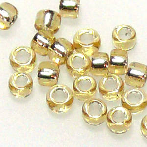 Matsuno size 11 round: 3 - Light Gold, silver lined