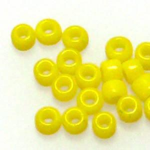 Matsuno size 11 round: 404A - Yellow, opaque