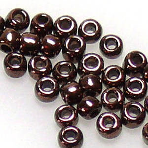 Miyuki size 11 round: 457A - Bronze Metallic