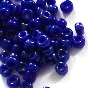 Miyuki size 11 round: 460L - Opaque Deep Blue Shimmer