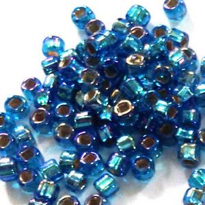 Matsuno size 11 round: 633 - Dark Aqua AB, silver lined