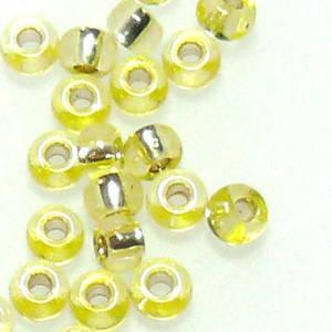 Miyuki size 11 round: 6A - Yellow, silver lined