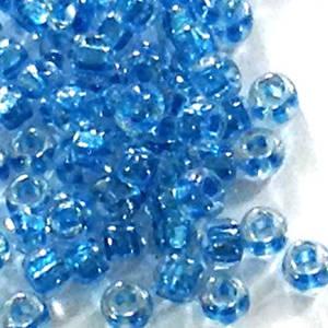 Miyuki size 11 round: 709 - Light Blue, colourlined, transparent