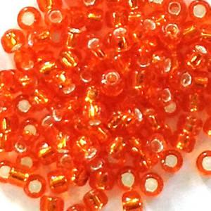 Matsuno size 11 round: 9 - Orange, silver lined