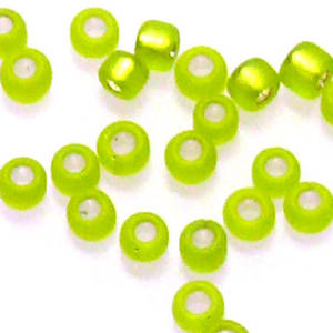 Matsuno size 11 round: F14 - Frosted Lime, silver lined