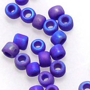 Miyuki size 11 round: F430L -  Frosted Purpley/Blue Iris