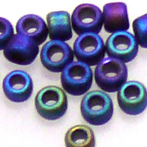 Miyuki size 11 round: F455C - Frosted Blue Iris