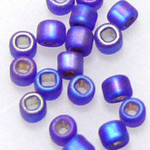 Matsuno size 11 round:  F641 - Frosted Sapphire Shimmer