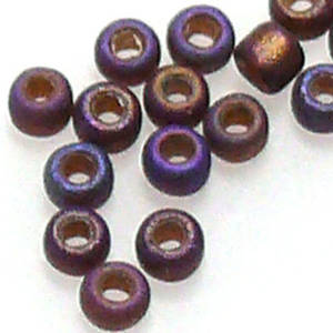 Miyuki size 11 round: F648A - Frosted Brown Iris