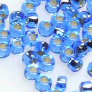 Miyuki size 15 round: 19 - Light Sapphire, silver lined