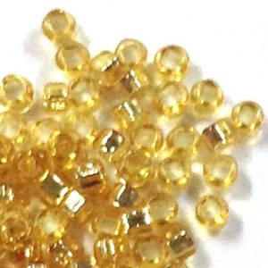 Miyuki size 15 round: 3 - Light Gold, silver lined