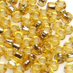 Miyuki size 15 round: 4 - Gold, silver lined