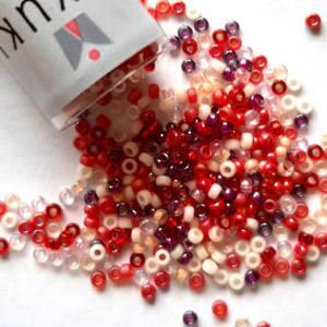 NEW! Miyuki size 15 round: MIX 05 - Reds
