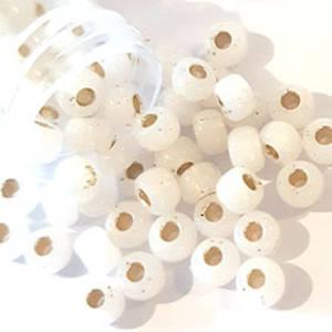 Miyuki size 6 round: 551 - White Opal Satin