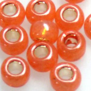 Toho size 6 round: 553A - Orange Satin