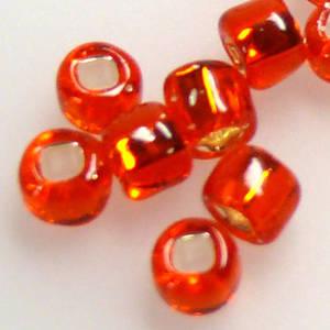 Matsuno size 6 round: 9 - Orange, silver lined