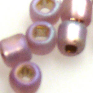 Matsuno size 6 round: F640 - Frosted Amethyst Rainbow