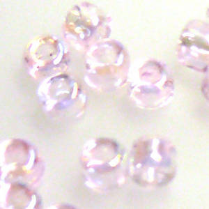 Matsuno size 8 round: 265 - Pink Shimmer, transparent