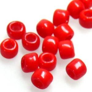 Matsuno size 8 round: 408 - Red Opaque