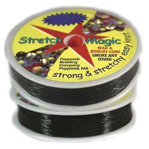 0.5mm Black Stretch Magic Cord - 25m roll