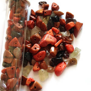 Semi-Precious Chip Mix - Browns (tall tube)